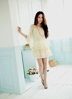 Women Elastic Knitting And Cotton Two Pieces Elegant Dress @H3437