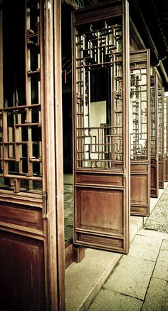 Wooden Doors in Suzhou by sennsi on DeviantArt Chinese Door, Chinese Garden, Suzhou, Chinese Buildings, Asian Interior, Interior Doors, Asian Architecture, Chinese Furniture, Indochine