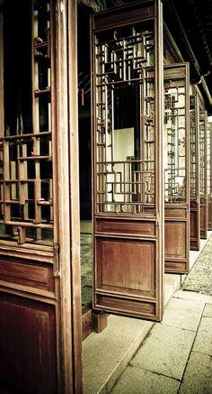 Wooden Doors in Suzhou, China