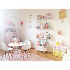 @kidsdesignlife - Kitchen corner with the lovely table and chairs from @jollyroom