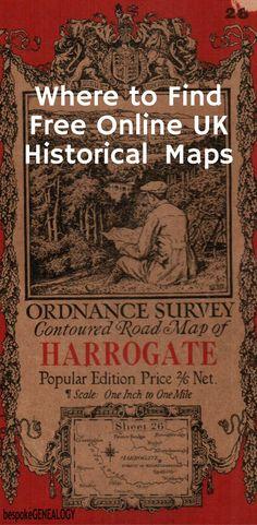 Where to Find Free Online UK Historical Maps | Bespoke Genealogy