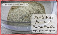How to Make Homemade Sprouted Lentil Protein Powder from Carrie on Vegan | www.carrieonvegan.com. #carrieonvegan