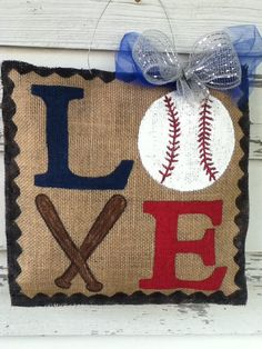 LOVE Baseball by DesignsbyCCW on Etsy, $25.00