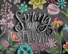 Arte la primavera primavera decoración impresión por TheWhiteLime