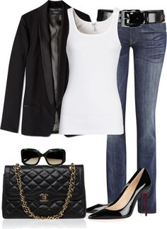 Black & white never get boring, dressed up, casual or both.