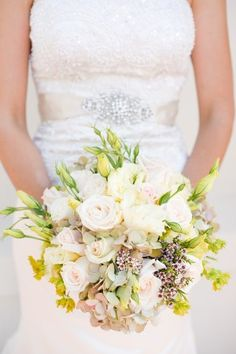 White and Ivory Wedding Bouquet | photography by http://candicebenjamin.com/