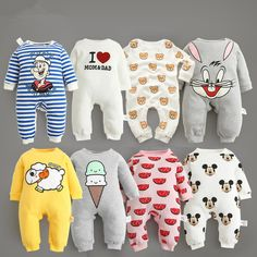 2016 new baby romper boy girl clothes onepiece jumpsuit brand costume toddler suit infant clothing bebes tiger rabbit mickey