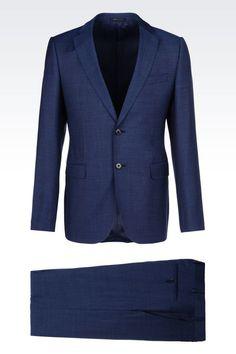 バージンウール製スリムフィットドレス: ツーボタンスーツ メンズ by Armani - 1