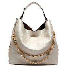 Designer inspired handbag Faux leather Magnetic snap closure Gold-tone hardware Detachable shoulder strap 2-in-1 bag L 13 * H 11.5 * W 7 (5.5 D)