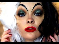 Cruella De Vil Makeup Tutorial - YouTube
