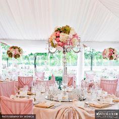 Beautiful table set up, center pieces & colors