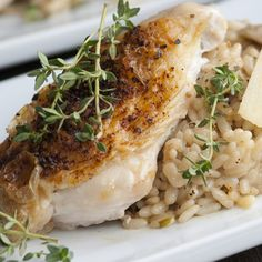 This roast chicken breast recipe uses simple ingredients is just a few steps to a delicious dinner. Serve with risotto or roasted potatoes.. Roast Chicken Breasts Recipe from Grandmothers Kitchen.
