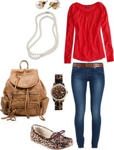 """School OOTD"" by ferocityfashion on Polyvore"