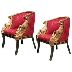 A Pair of Second Empire Fauteuil-Gondole, France at 1stdibs