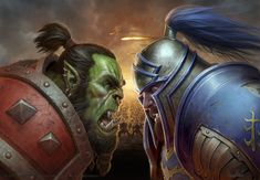 Artwork created for the box cover of World of Warcraft: Battle for Azeroth. Art direction by Chris Robinson.