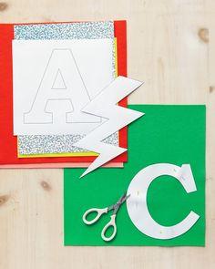 alphabet & super hero templates