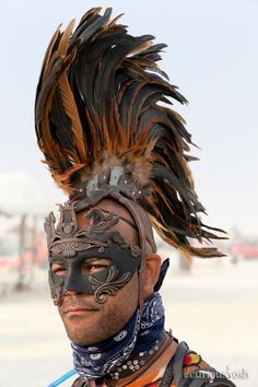 Great idea for my headdress of the warrior