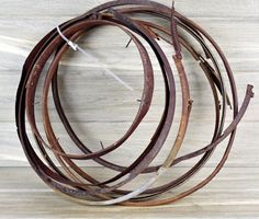 Salvaged Metal (8) Hoops, Metal Round Parts, Salvaged Hoops, Clock Making, Metal Sculpture, Metal Art Supplies, Industrial Salvage #5-6 by DogFaceMetal on Etsy