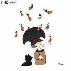 On instagram by umbrelling #madewithpaper #enclavedepod (o) http://ift.tt/1OVaUNq a storm. . Follow us for more umbrella illustrations. . #Repost @axixe with @repostapp  Mum as she hands me 'Kafka On The Shore' before I left for work this morning: Ohh this book. I've read it. But I still don't understand if the boy -  Me violently objecting her mid-sentence: NNOOOO DON'T TELL ME I'M NOT DONE WITH IT YEEEEEET!  But now I am and damn the book - what kinda mindfuckery is this? Enjoyed it tho…