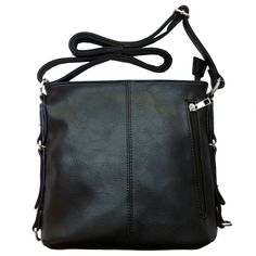 """Crossbody bag with top zipper closure. Dimensions: 11"""" x 9"""" x 4"""" Also available in Grey, Purple, Brown"""