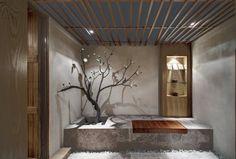 *힐링캠프, 헬스클럽 [ Crox International ] One Taste Holistic Health Club Spa Interior, Interior Design, Interior Ideas, Spa Design, House Design, Zen Furniture, Hangzhou, Health Club, Commercial Design
