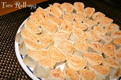 """Tortilla Roll-ups :LW- These were really good with salsa. A great """"make the night before"""" dish."""