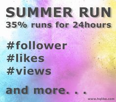 HQlike für mehr Follower, Likes, Views and more. Bis zu 40% Rabatt für ausgesuchte Produkte- aber nur 24 Stunden. Link: https://hqlike.com/de/summer_run.php  Up to 40% discount for selected products - but only 24 hours. Link: https://hqlike.com/en/summer_run.php