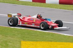 Gilles Villeneuve in the 2010 Ferrari 312/T5 - the most exciting driver of his era to watch, especially at Brands Hatch