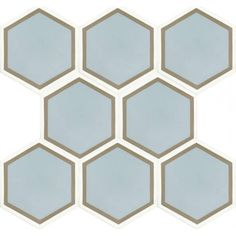 And these are a rip off of Popham's honeycomb tile! But I think the proportions aren't as nice - the lines in the original are thicker. But perhaps it would still look good en masse wit the right choice of grouting?