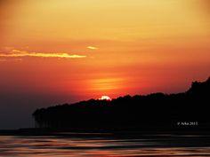 Sunset at Udaypur Beach, India - null