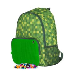 Pixie Crew Casual Daypack, Minecraft Style, Grün (Green) - PXB-02-D07: Amazon.co.uk: Amazon.co.uk: Pixie, Minecraft, Backpacks, Amazon, Casual, Green, Stuff To Buy, Bags, Style