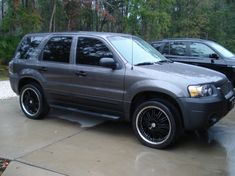 2006 Custom Ford Escape Sitting On 20 Wheels Billet Grill Altezza Tail Lights