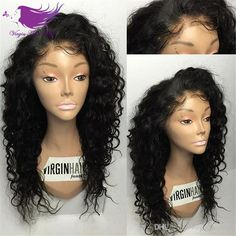 Top Quality Kinky Curly Wig Glueless Full Lace Human Hair Wigs For Black Women 7A Curly Human Hair Wigs Brazilian Lace Front Wig Online with $72.37/Piece on Virginhairwigs's Store   DHgate.com
