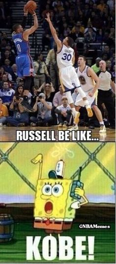 Nice! Russ Westbrook impersonating The Black Mamba? http://funnylolmemes.com/russ-westbrook-impersonating-the-black-mamba/ #funnylolmemes