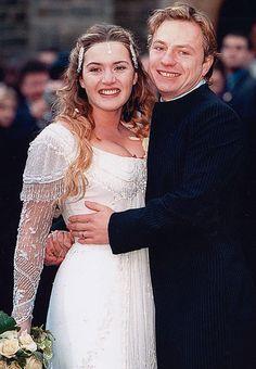 Kate Winslet &Jim Threapleton on their wedding day, 1998