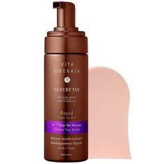 Vita Liberata - Rapid Tan Mousse #sephora A quick and easy-to-use, fast-acting tan mousse that develops over one to three or more hours, allowing you to choose your desired depth of tan.