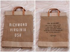 Richmond virginia market bag