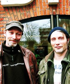 """Lars and Mads Mikkelsen. """"We have pretty much done everything together throughout life, and we have become closer and closer as the years have passed. There is only one and a half years between us , and we begin to resemble each other more and more."""" – Lars Mikkelsen"""