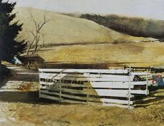 Andrew Wyeth (1917 — 2009, USA) watercolor on paper. © Andrew Wyeth
