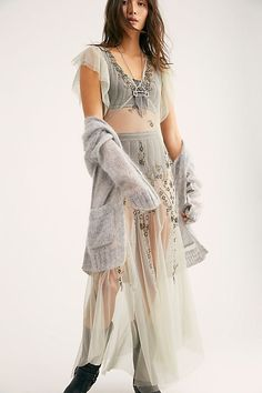 Annabelle Embroidered Maxi Slip - Sheer Maxi Slip Dress with Embroidery - Sheer Slip Dresses - Maxi Dresses - Boho Maxi Dresses - Free People Maxi Dresses Casual Skirt Outfits, Pretty Outfits, White Slip On Vans, Sheer Maxi Dress, Western Dresses, Ladies Dress Design, How To Wear, Fashion Design, Clothes