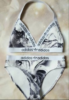 Marble Adidas Bikini where can i find this? Cute Swimsuits, Cute Bikinis, Trendy Swimwear, Swimwear Fashion, Summer Suits, Summer Wear, Summer Time, Shopping Outfits, Beach Style