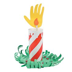 Christmas Handprint Candle Craft