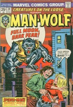 Creatures on the Loose featuring Man-Wolf #30. Inked by John Romita