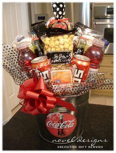 Custom Coca Cola Product Branding Gift Basket