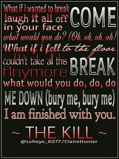 Song lyrics from The Kill - 30 Seconds To Mars