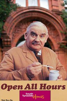 Still Open All Hours Season 3 Episode 7 is a British sitcom, a sequel to the collection Open All Hours, written by authentic author Roy Clarke and that incl Porridge Tv Series, Ronnie Barker, Open All Hours, Bbc Tv Shows, Classic Comedies, You Make Me Laugh, British Comedy, Comedy Tv, Great Tv Shows