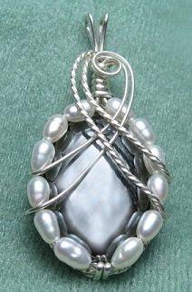 Hemetite, Pearls  Silver