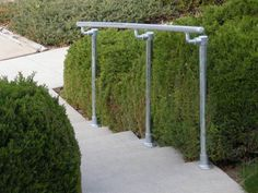 Pipe railing for your home our business. #railing #porch #stairs #frontstep #simplerail  Surface 518 - Surface Mount Railing