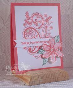 Paisley In Flirty Flamingo!   Debbie's Designs   Bloglovin'