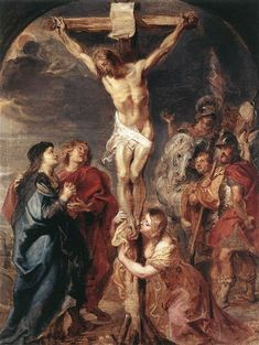 Christ on the Cross, 1627 by Peter Paul Rubens. Baroque. religious painting